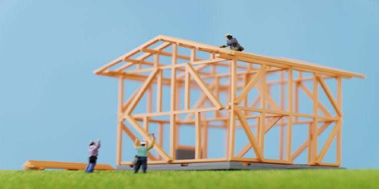 木造住宅の構造イメージ
